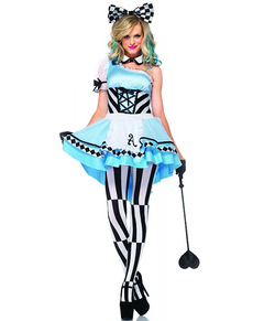 Psychedelic Alice costume for a woman