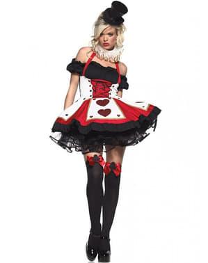 Sexy Kartenkönigin Kostüm für Damen