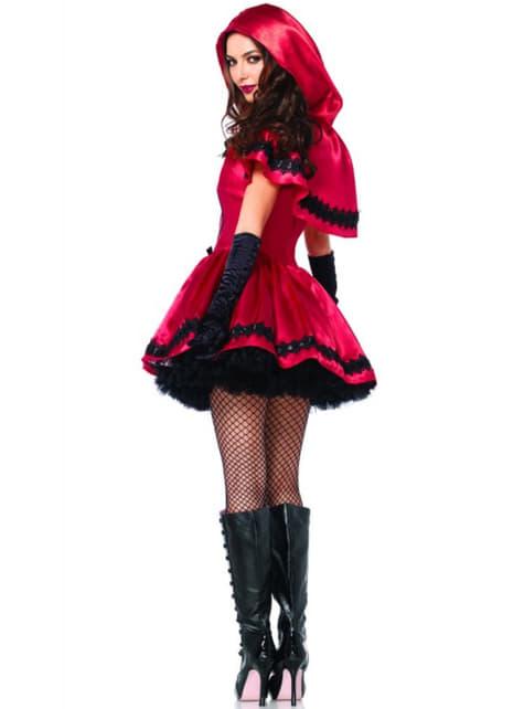 Déguisement Petit Chaperon Rouge gothique femme