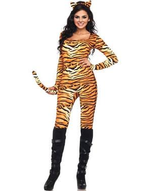 Wilde Tigerin Kostüm für Damen