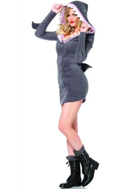 女性向けのフレンドリーなサメの衣装