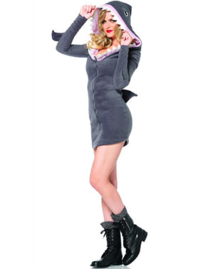 Disfraz de tiburón adorable para mujer