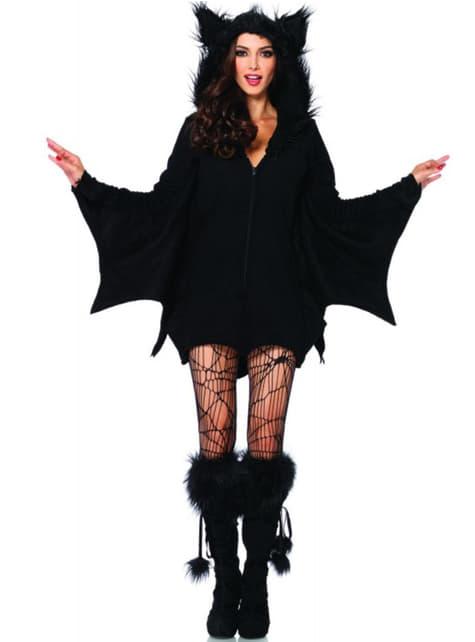 Disfraz de murciélago adorable para mujer