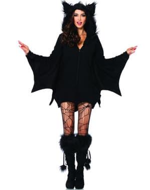 Fato de morcego adorável para mulher