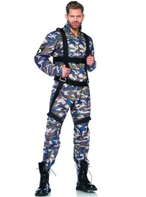 Costume da paracadutista uomo