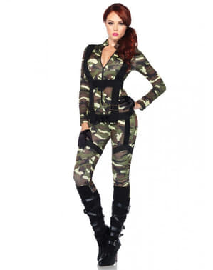 Military paratrooper costume for a woman