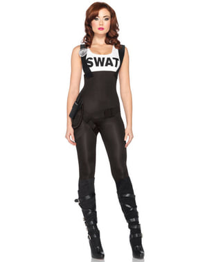 SWAT agent costume for a woman