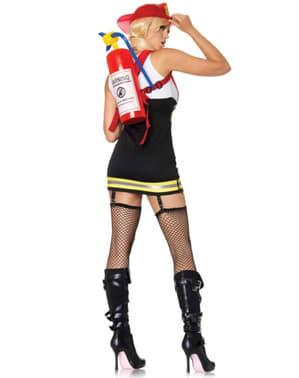 Eksplosiv Brannkvinne Kostyme for Dame