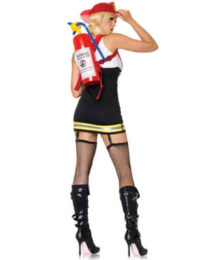 Explosive fire fighter costume for a woman