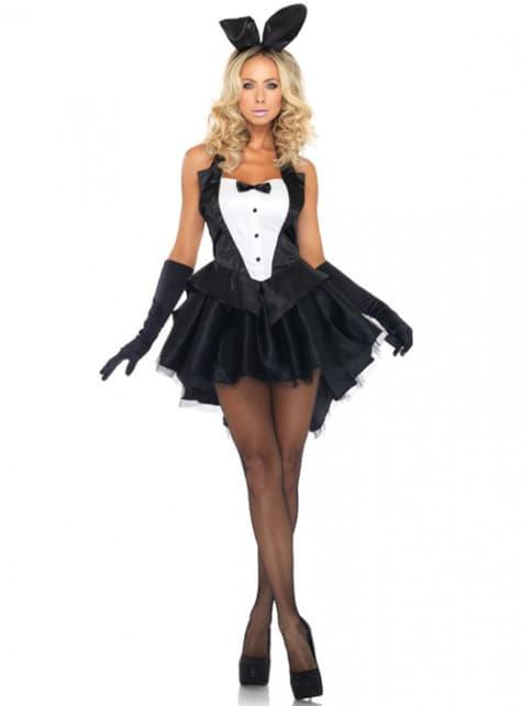 Disfraz de conejita esmoquin para mujer