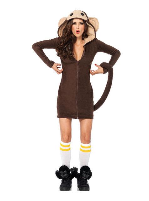 Disfraz de mono juguetón para mujer