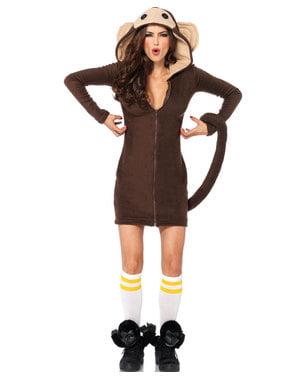 Costume da scimmia giocherellona per donna