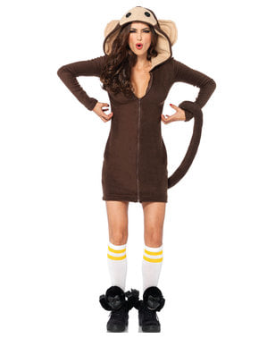 Playful monkey costume for women