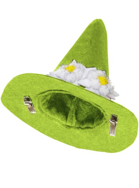 Mini sombrero bávaro verde con Edelweiss para hombre