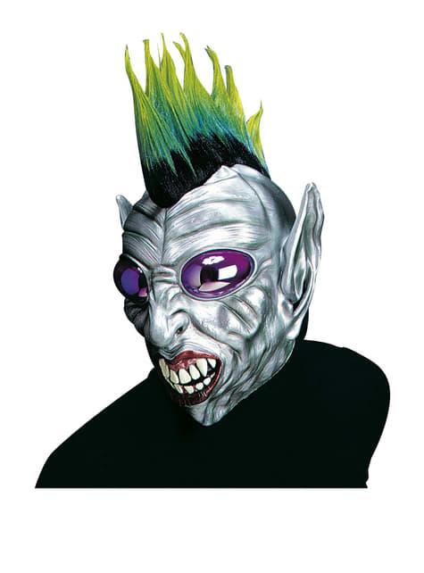 Máscara de alien estilo punky para hombre