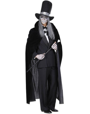 Mens Black Velvet Cape