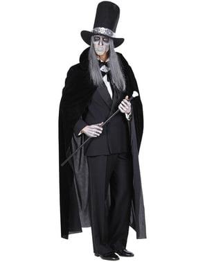 Pelerină neagră de catifea pentru bărbat