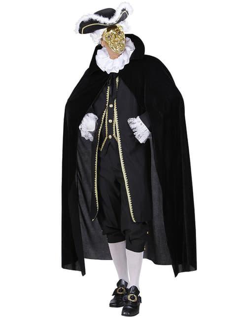 Capa negra de terciopelo para hombre - para tu disfraz