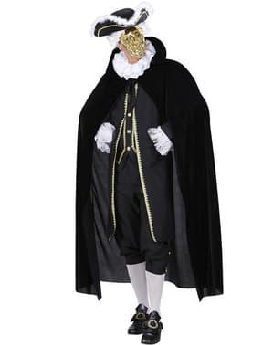 Pánsky čierny zamatový plášť