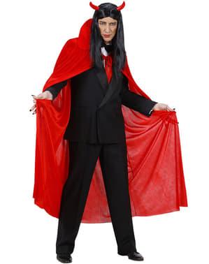 Rød kappe i fløjl til mænd