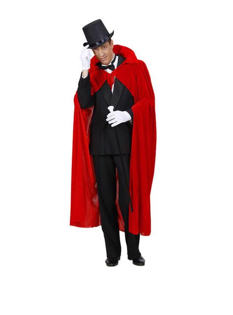 Capa roja de terciopelo para hombre - para tu disfraz