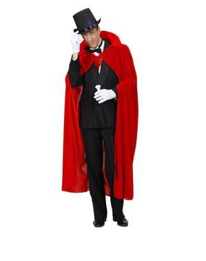 Cape rouge velours homme