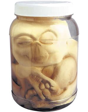 Frasco com embrião alien