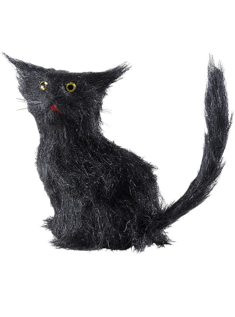 Gato negro de la mala suerte para fiestas de halloween - Romper un plato trae mala suerte ...