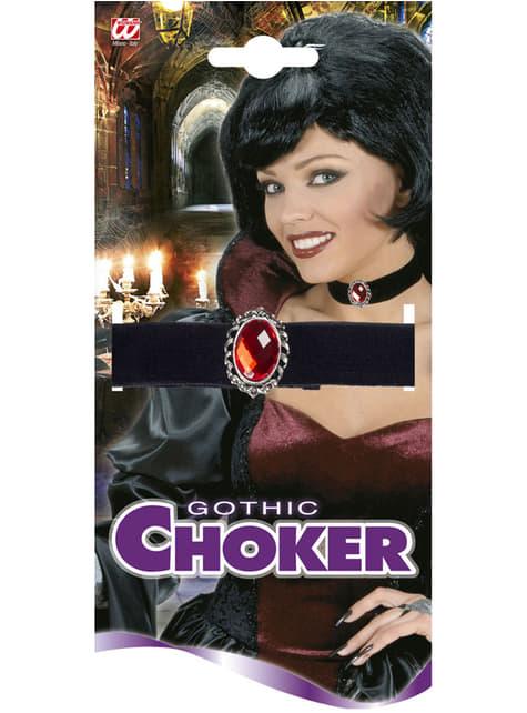 Γυναικεία μαύρη βελούδο Choker