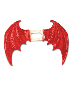 Maxi rode vleugels voor vrouw