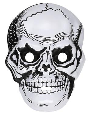 Maska czaszka plastikowa