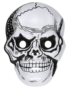 Muška plastična maska lubanje