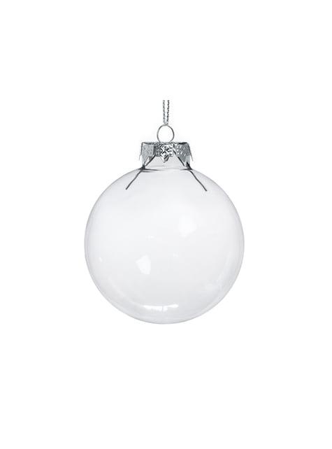 12 esferas colgantes de vidrio