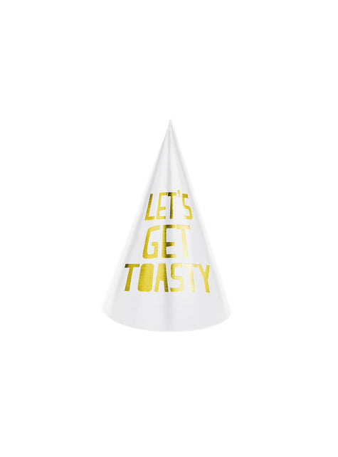 6 Assorted Paper Party Hats - Happy New Year