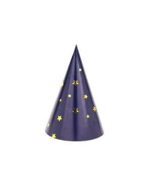 6 chapeaux à motifs en carton - Happy New Year