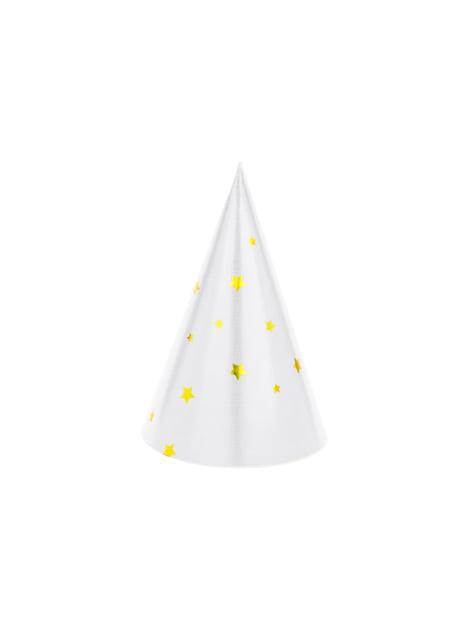 6 cappellini stampati di carta - Happy New Year