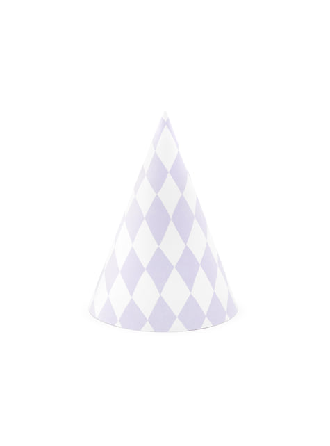 6 cappellini a rombi di carta - Yummy