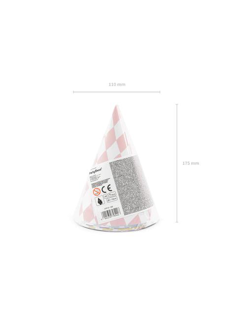 6 gorritos de rombos de papel - Yummy - para decorar todo durante tu fiesta