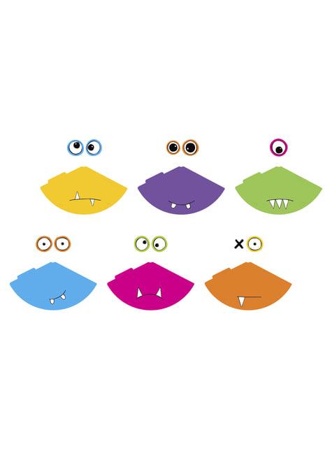 6 chapeaux monstres en carton - Monsters Party