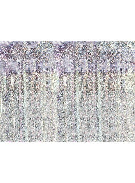 Cortina de flecos color holográfico de 2,5 m - para tus fiestas
