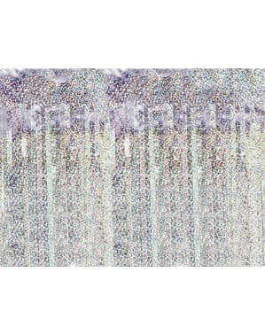 Cortina de franjas de cor holográfica de 2,5 m