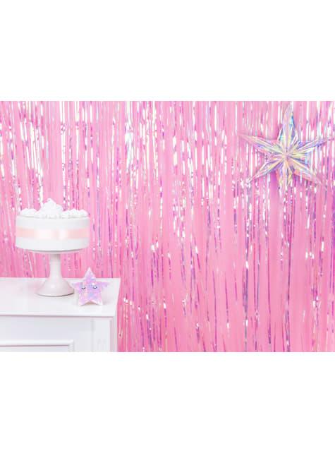 Cortina de flecos color iridiscente de 2,5 m - para tus fiestas