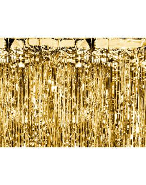 Cortina de franjas douradas de 2,5m