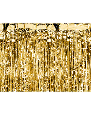 Złota kurtyna imprezowa z frędzelków (2,5m)