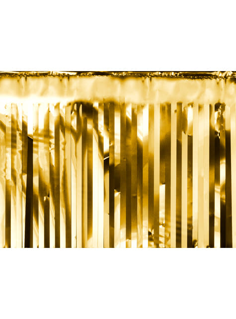 Guirnalda de flecos color dorado