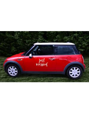 Sticker décoration voiture Mariage