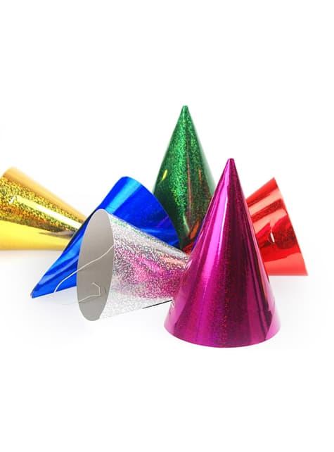 120 gorritos variados holográficos - Holographic - para tus fiestas