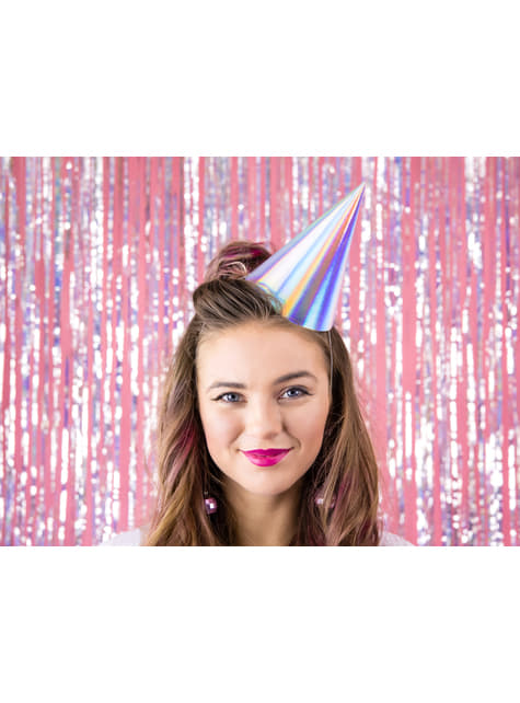 6 gorritos iridiscentes de papel - Exotix Holo - para tus fiestas