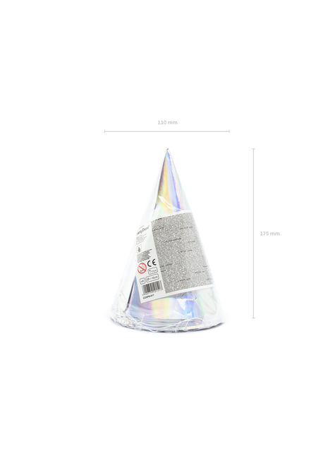 6 gorritos iridiscentes de papel - Exotix Holo - barato