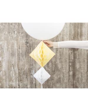 Biała wisząca dekoracja z papieru honeycomb 20cm